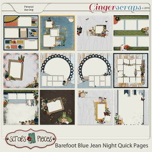 Barefoot Blue Jean Night Quick Pages by Scraps N Pieces