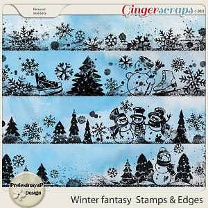 Winter fantasy Stamps & Edges