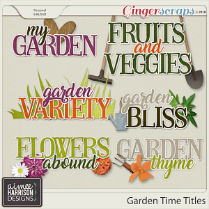 Garden Time Titles by Aimee Harrison