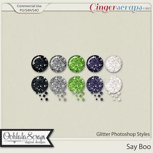 Say Boo Glitter Photoshop Styles
