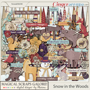 Snow in the Woods (page kit)