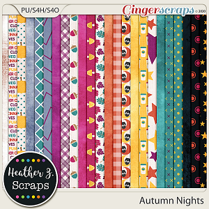 Autumn Nights PAPERS by Heather Z Scraps