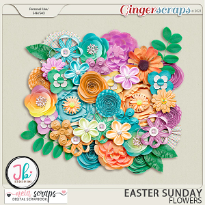Easter Sunday - Flowers - by Neia Scraps and JB Studio