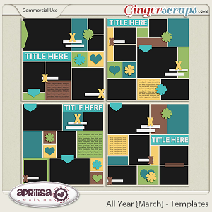All Year {March} - Template Pack
