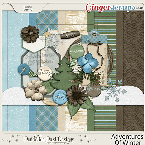 Adventures Of Winter Digital Scrapbook Kit By Dandelion Dust Designs