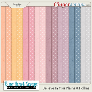 Believe in You Plain & Polka Paper Pack