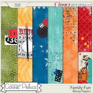 Family Fun - Messy Papers by Connie Prince