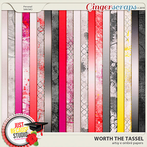 Worth The Tassel Artsy & Ombré Papers by JB Studio