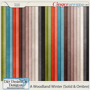 A Woodland Winter {Solid and Ombre Papers} by Day Dreams 'n Designs