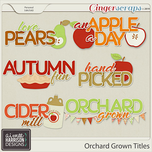Orchard Grown Titles by Aimee Harrison