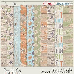 Bunny Tracks Wood Backgrounds