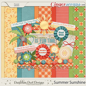 Summer Sunshine Digital Scrapbook Kit By Dandelion Dust Designs