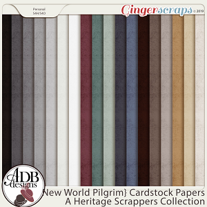 New World Pilgrim Solid Papers by ADB Designs