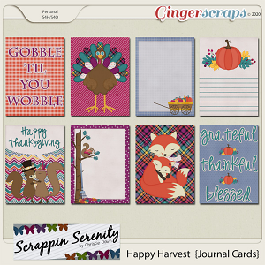 Happy Harvest Journal Cards