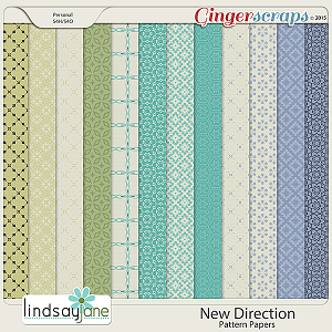New Direction Pattern Papers by Lindsay Jane