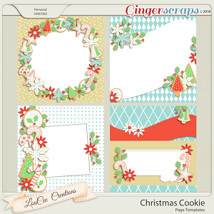 Christmas Cookie Page Templates