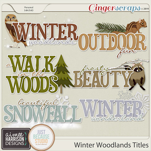 Winter Woodlands Titles by Aimee Harrison and JB Studio