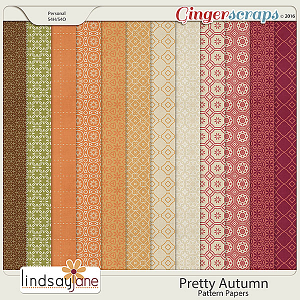 Pretty Autumn Pattern Papers by Lindsay Jane