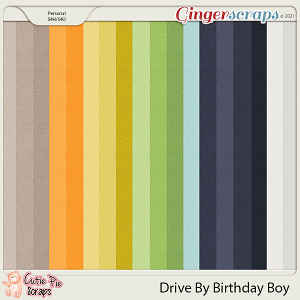 Drive By Birthday Boy Solid Papers