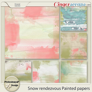 Snow rendezvous Painted papers