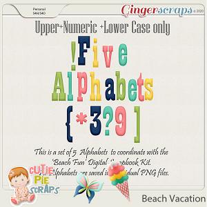 Beach Vacation - Alphabets