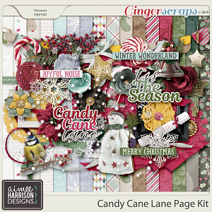 Candy Cane Lane Page Kit by Aimee Harrison