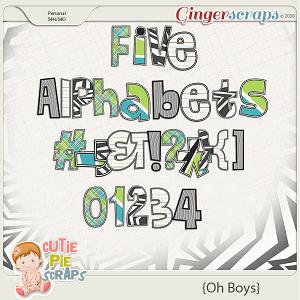 Oh Boys Alphabets