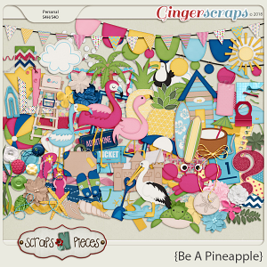 Be A Pineapple Embellishments by Scraps N Pieces