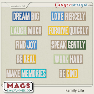 Family Life TITLES by MagsGraphics