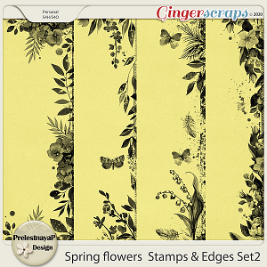 Spring flowers Stamps & Edges Set2