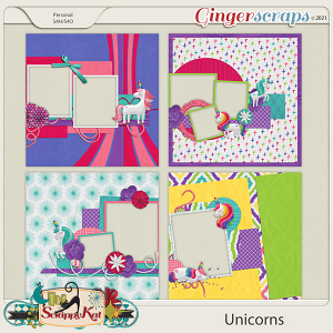 Unicorns Quick Pages by The Scrappy Kat