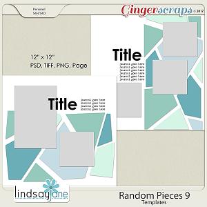 Random Pieces 9 Templates by Lindsay Jane