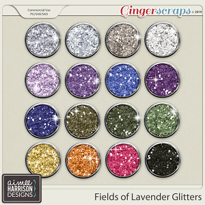 Fields of Lavender Glitters by Aimee Harrison