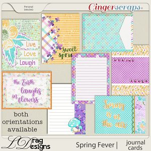Spring Fever: Journal Cards by LDragDesigns