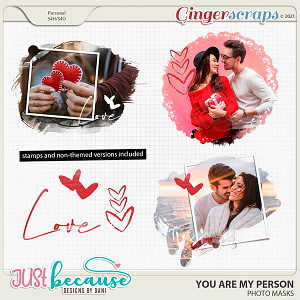 You Are My Person Photo Masks by JB Studio