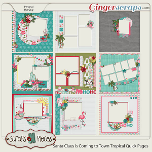 Santa Claus is Coming to Town Tropical Quick Pages by Scraps N Pieces