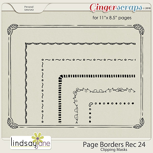 Page Borders Rec 24 by Lindsay Jane
