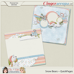 Snow Bears QuickPages by K4K