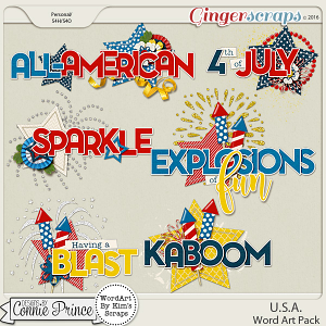 U.S.A. - Word Art