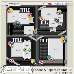 Ribbons & Papers Volume 12 - 12x12 Temps (CU Ok) by Connie Prince