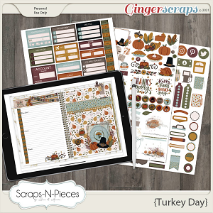 Turkey Day Planner Pieces by Scraps N Pieces