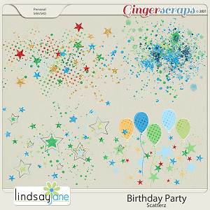 Birthday Party Scatterz by Lindsay Jane