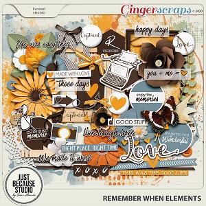 Remember When Elements by JB Studio