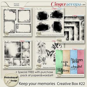 Keep your memories Creative Box #22