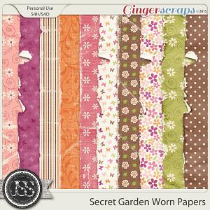 Secret Garden Worn Papers