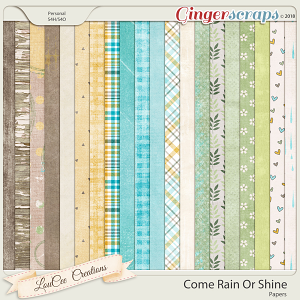Come Rain Or Shine Papers by LouCee Creations