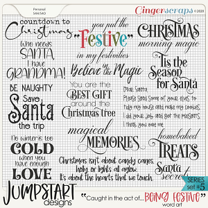 Caught in the act of: BEING FESTIVE {Word Art}