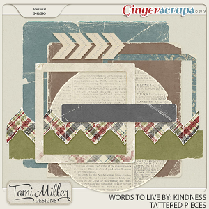 Kindness Tattered Pieces by Tami Miller Designs