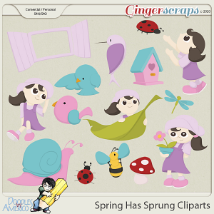 Doodles By Americo: Spring Has Sprung Cliparts