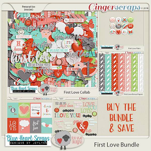 First Love Bundle by Luv Ewe Designs and Blue Heart Scraps